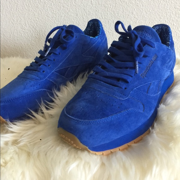 Reebok Classics In Royal Blue Suede